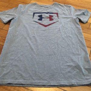 Under Armour  boy's gray baseball graphic t-shirt